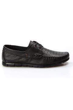 FAST STEP Hakiki Deri Siyah Erkek Casual Ayakkabı(110944423)