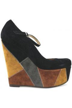 Chaussures escarpins Gianni Marra MARRA talons compensés noir multicolor daim AJ294(88517726)