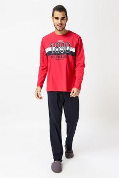 U.S. Polo Assn. Kırmızı Baskılı Pijama Takımı(126442543)