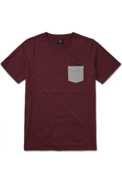 T-shirt Etnies MOSES SS TEE BURGUNDY(127989091)