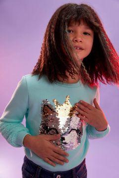 DeFacto Kız Çocuk Payet İşlemeli Sweatshirt(125926950)