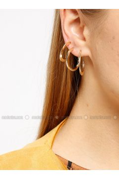 Yellow - Gold - Earring - Koton(110322180)