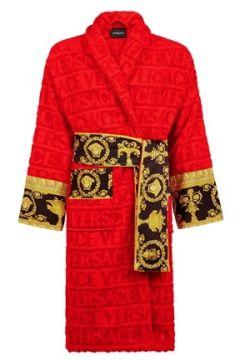 Versace Kırmızı Şal Yaka Logolu Desenli Unisex Bornoz(109148823)