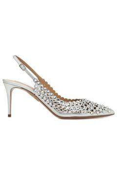 Aquazzura Kadın Tequila Silver Taşlı Deri Topuklu Ayakkabı Gri 36.5 EU(108873840)