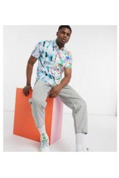 ASOS MADE IN KENYA - Camicia con stampa mista vestibilità classica in coordinato-Bianco(121194978)