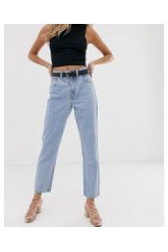 Abrand - Jeans slim a vita alta stile anni \'94-Blu(120356036)