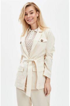 DeFacto Kadın Cep Detaylı Kemerli Blazer Ceket(119063742)