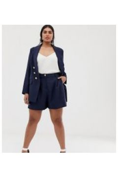 Lovedrobe - Lang geschnittene City-Shorts mit hoher Taille in Marineblau(86702435)
