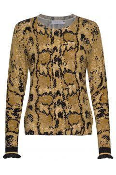 Sweater In Pyton Print Strickpullover Gelb COSTER COPENHAGEN(114151782)