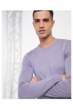 Gianni Feraud - Maglione premium girocollo attillato elasticizzato finemente lavorato-Viola(120224115)