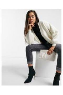 Fashion Union - Cardigan vestibilità comoda a trecce-Crema(121197436)