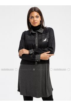 Anthracite - Point Collar - Tunic - MY MOOD(110339225)