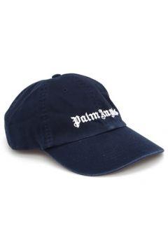 Palm Angels Erkek Lacivert Beyaz Logo Nakışlı Şapka EU(118488464)