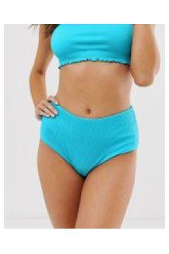 Weekday - Hellblaue Bikinihose mit hohem Bund - Blau(95025761)