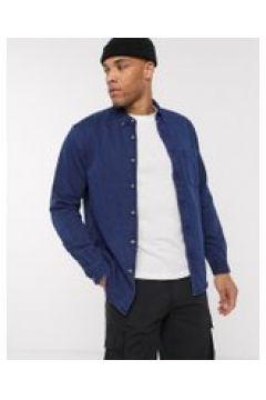 Pull&Bear - Camicia di jeans lavaggio blu scuro-Navy(120254748)