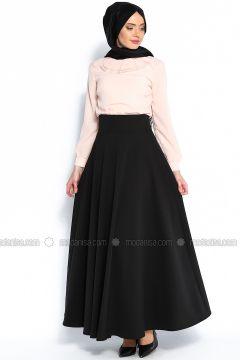 Plain circular skirt - Black - Veteks Line(110343574)