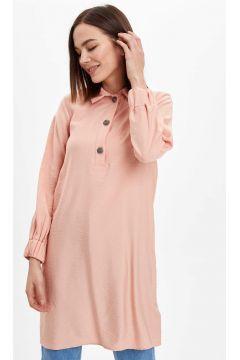 DeFacto Kadın Gömlek Yakalı Relax Fit Tunik(119058832)