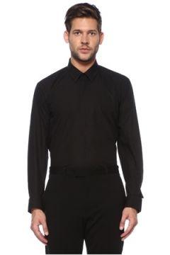 Fendi Erkek Siyah Modern Yaka Gömlek 39 IT(118643018)