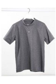 Native Youth - Adrian - T-shirt a nido d\'ape grigia-Grigio(122963774)