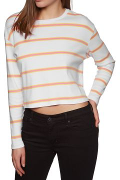 SWELL Swell Cropped Langarm-T-Shirt - White Stripe(100260707)