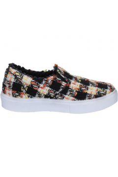 Chaussures 2 Stars slip on noir textile blanc BX377(115442542)