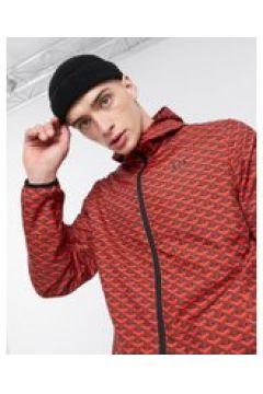 Criminal Damage - Giacca sportiva in nylon pattern rosso(120243026)