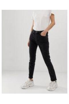 Tomorrow - Mom jeans vita alta in cotone biologico-Blu(112835307)