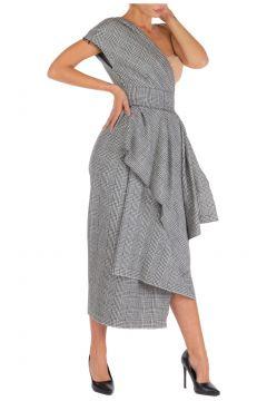 Women's calf length dress sleeveless(118298769)