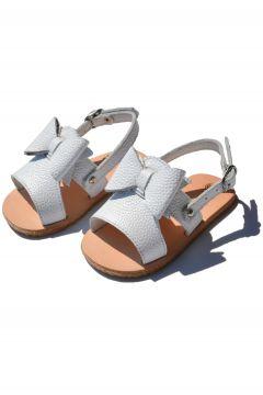 Ayax Fiyonk Bebek Sandalet Beyaz Cv-312(117603155)