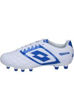 Chaussures de foot Lotto sneakers blanc cuir bleu BT585(115442843)