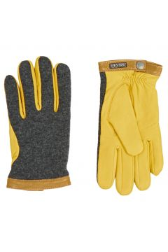 Gants Hestra Deerskin Wool Tricot - Grey Yellow(111332182)