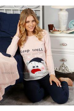 Pink - Crew neck - Multi - Pyjama - Elitol Pijama(110316479)