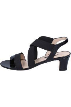 Sandales Daniele Ancarani sandales noir cuir verni textile ap898(98485762)