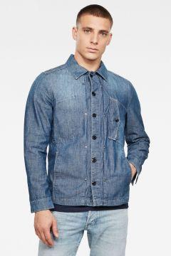 G-Star RAW Men Scutar Denim Overshirt Medium blue(118179875)