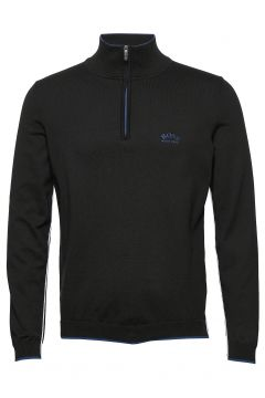 Ziston_w20 Knitwear Half Zip Jumpers Schwarz BOSS(114355560)