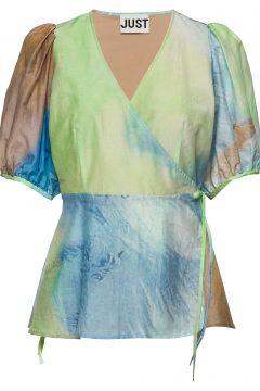 Mercer Wrap Blouse Bluse Ärmellos JUST FEMALE(114801897)