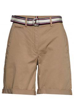 Gmd Cotton Tencel Slim Bermuda Bermudashorts Shorts Beige TOMMY HILFIGER(111057427)