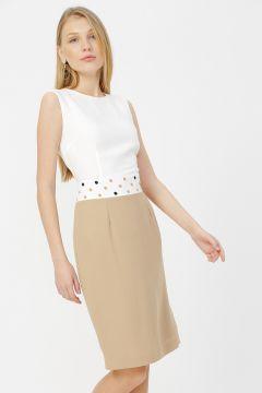 Naramaxx Beyaz Puantiyeli Elbise(116366779)
