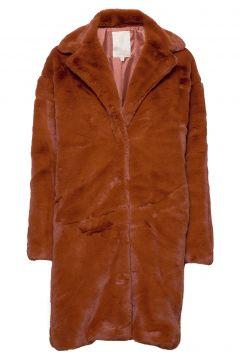 Elissa Fake Fur Jacket Outerwear Faux Fur Braun MINUS(114153496)