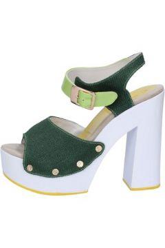 Sandales Suky Brand sandales vert textile cuir verni AB314(115394086)