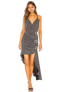 Платье с асимметричным подолом margaux - For Love & Lemons(115055903)
