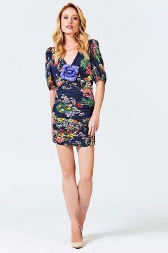 Kleid Stretch-Verarbeitung Blumen(122326796)
