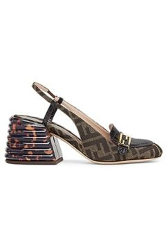 Fendi Kadın Kahverengi Siyah Logolu Topuklu Ayakkabı 37 EU(113466245)