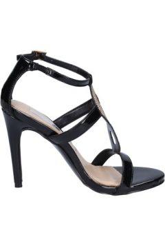Chaussures escarpins Ikaros sandales noir cuir verni strass BT762(98485047)