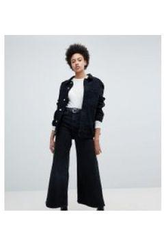 Weekday - Ace - Schwarze Jeans aus Bio-Baumwolle mit weitem Bein - Schwarz(89818066)