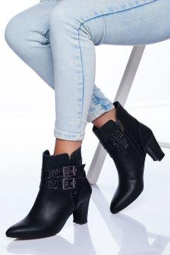 Ayakkabı Frekansı Kadın Siyah Cilt Bot(120183768)
