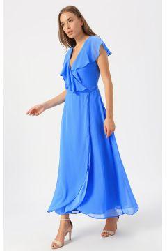 Vero Moda Mavi Düz Elbise(113981004)