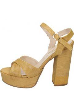 Sandales Geneve Shoes sandales jaune textile BZ892(115399064)