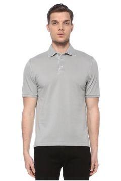 Fedeli Erkek Gri Polo Yaka T-shirt 54 IT(116665622)
