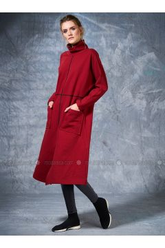 Polo neck - Maroon - Sweat-shirt - Eda Atalay(110331479)